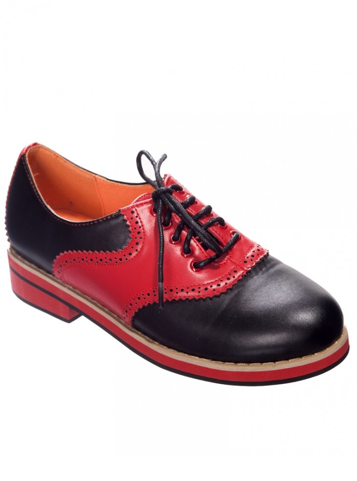 """Chaussures Derby Rockabilly Retro Banned """"Old Soul Dancer"""""""