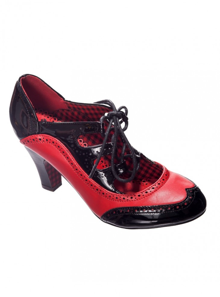 "Chaussures Escarpins Années 50 Pin-Up Rockabilly Banned ""The Last Dance Red"""