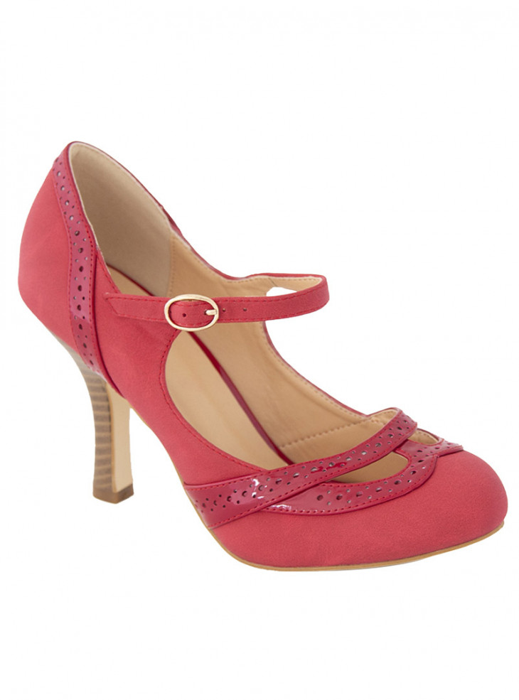 "Chaussures Escarpins Retro Pin-Up Vintage Banned ""Red Angel Dust"""