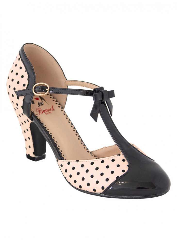 """Chaussures Escarpins Pin-Up Vintage Retro Banned """"Blush Kelly Lee"""""""