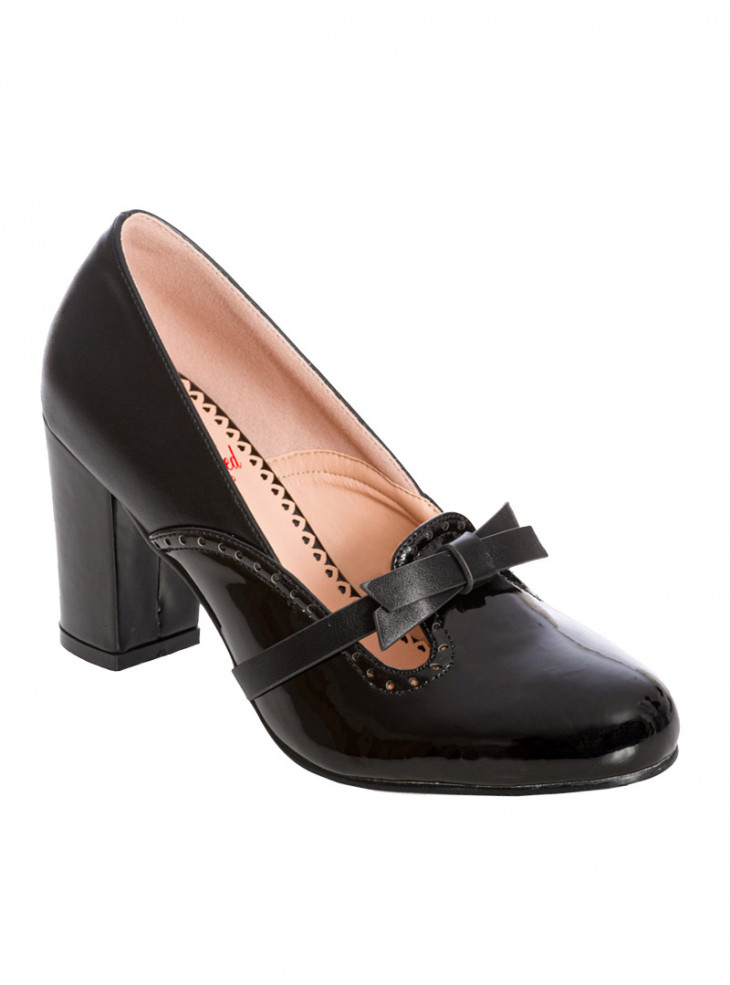"Chaussures Escarpins Rockabilly Vintage Retro Banned ""My Sharona Black"""