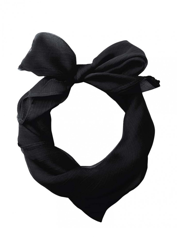 """Foulard Etole Rockabilly Pin-Up Années 50 Banned """"Just Black"""""""