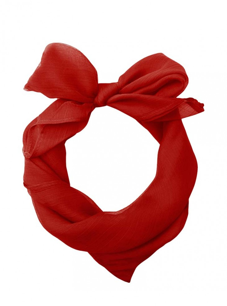 "Foulard Etole Pin-Up Rockabilly Années 50 Banned ""Just Red"""