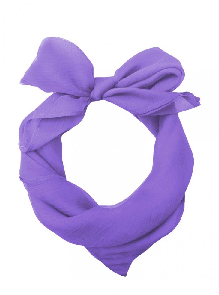 "Foulard Etole Pin-Up Rockabilly Années 50 Banned ""Just Purple"""