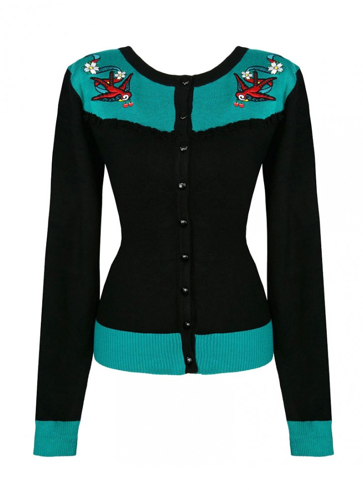 "Gilet Cardigan Retro Rockabilly Banned ""Emily"""