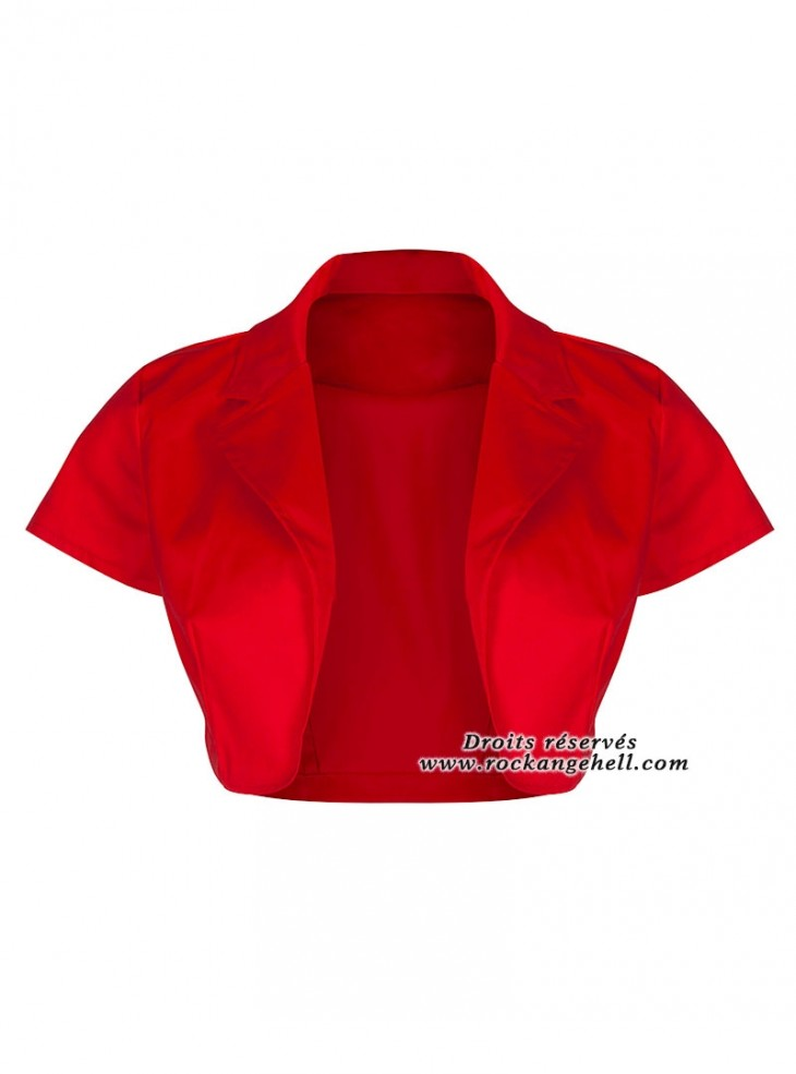 "Bolero Rockabilly Vintage Gothique Banned ""Just Red"""