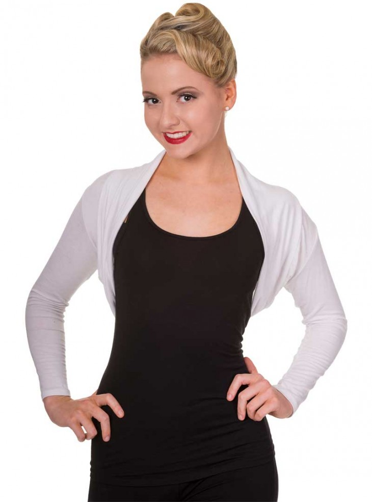Bolero Rockabilly Banned Blanc