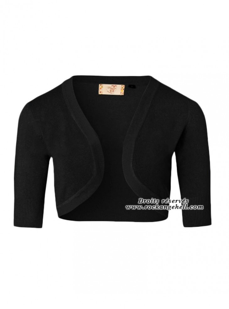 "Bolero Noir Retro Rockabilly Vintage Banned ""Hudson Black"""