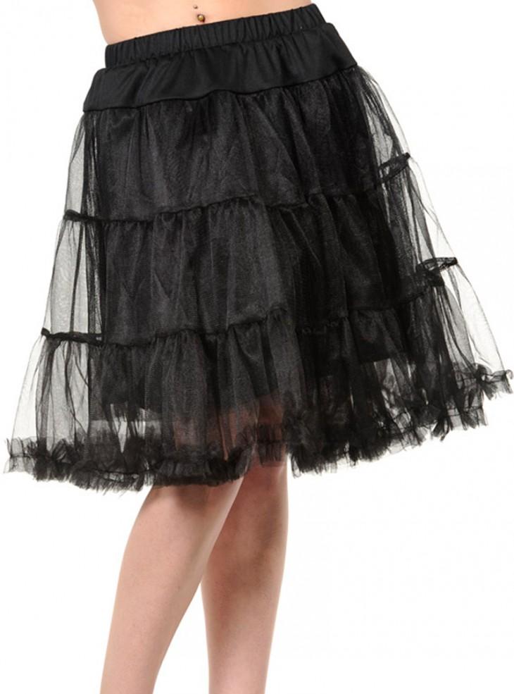"Jupon 58 cm Rockabilly Années 50 Banned ""Petticoat Black"""