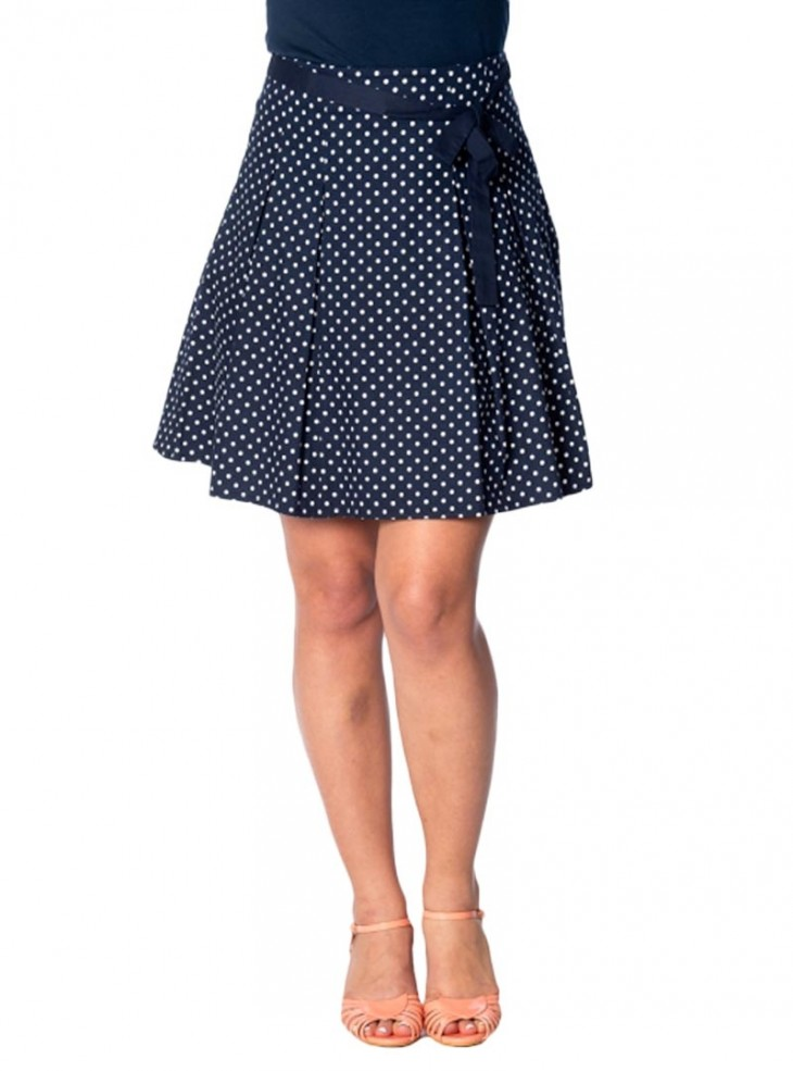 """Jupe Swing Rockabilly Années 50 Retro Banned """"Heather Blue Navy"""""""