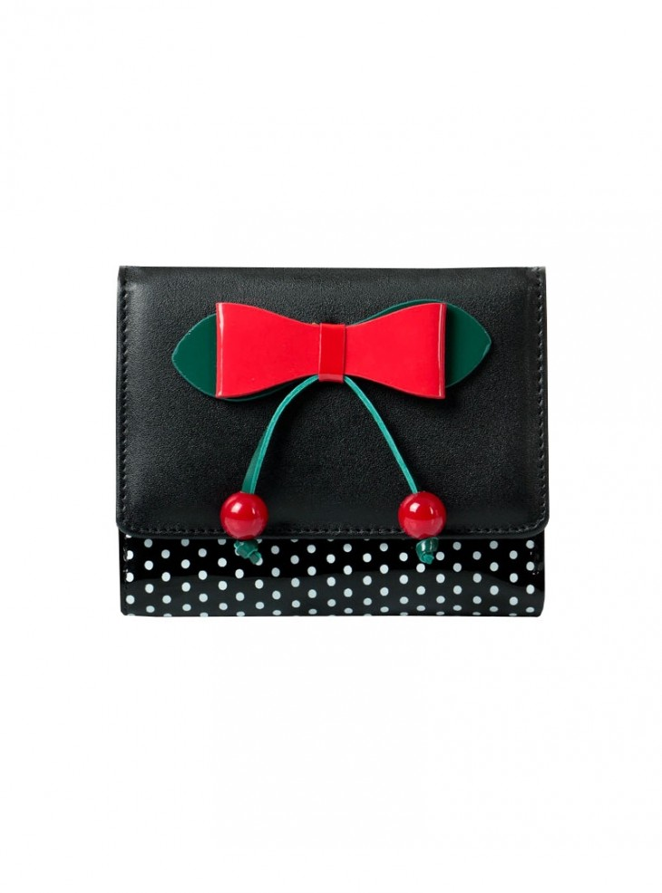 "Porte-Monnaie Rockabilly Retro Banned ""Marilou Black"""