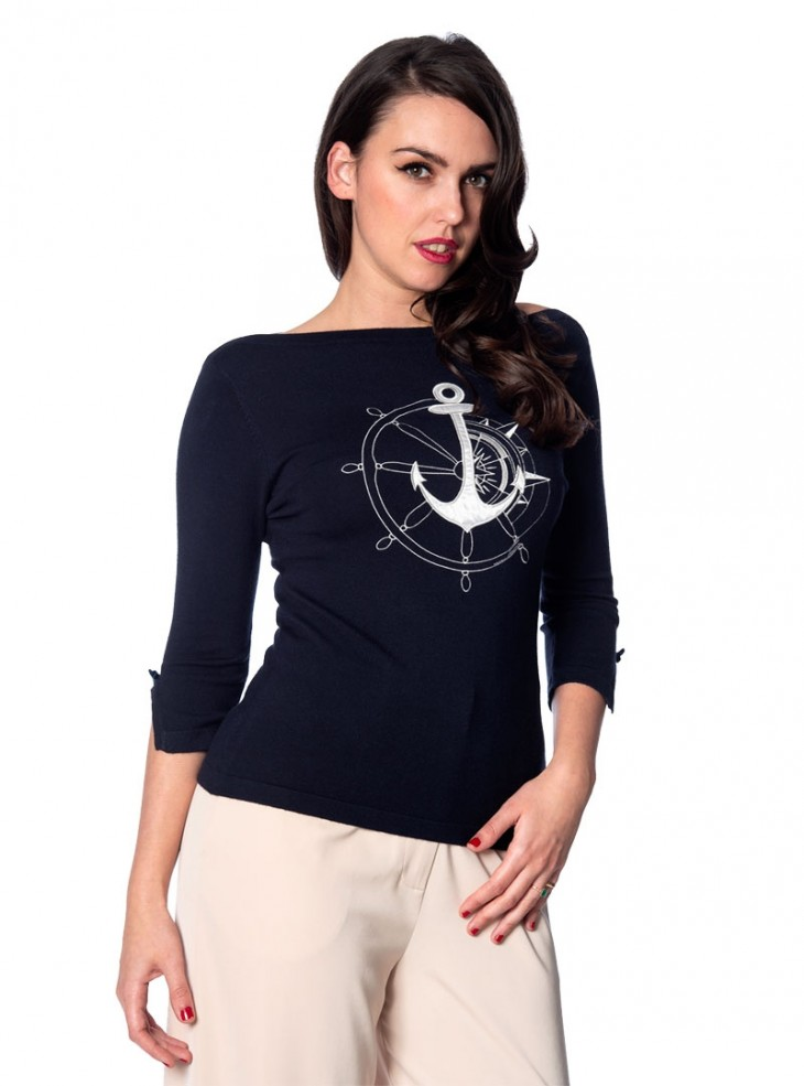 "Pull Sailor Pin-Up Rockabilly Retro Banned ""Anchors Away"""