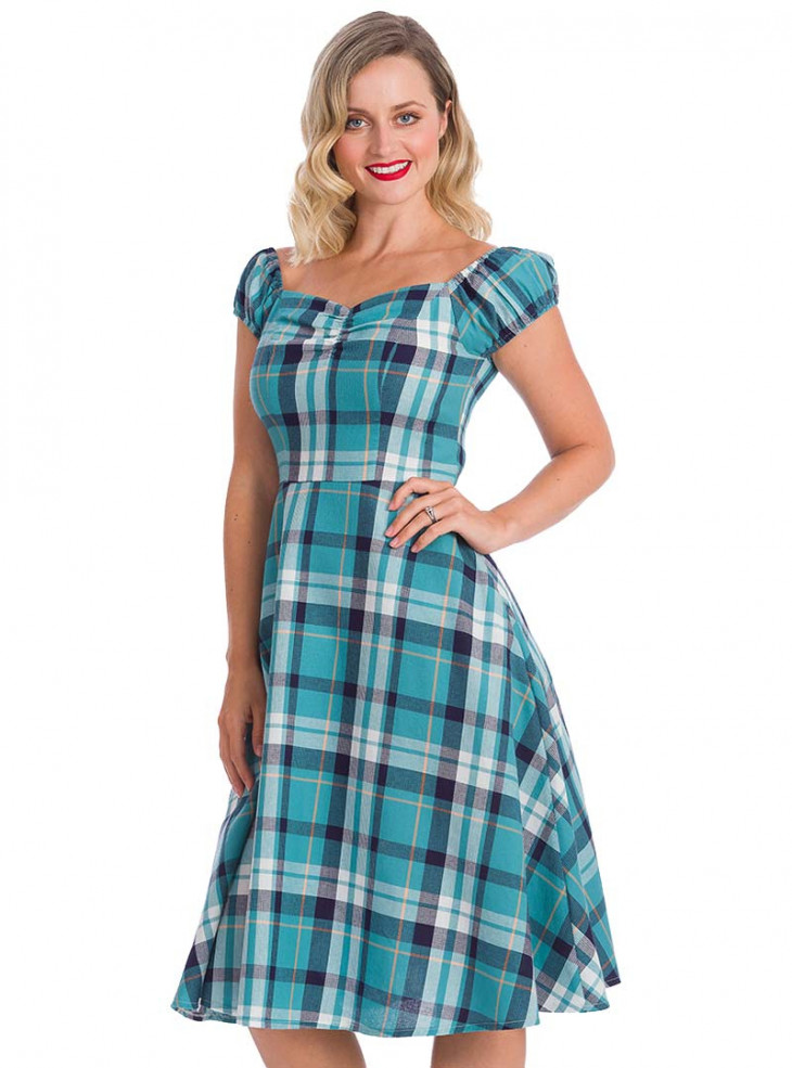 "Robe Rockabilly Retro Pin-Up Banned ""Treat Me"""