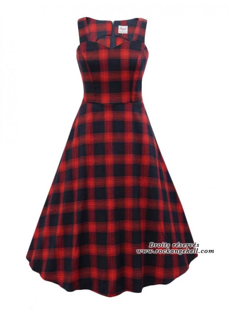 """Robe Rockabilly Retro Pin-Up Banned """"Sweet Check"""""""