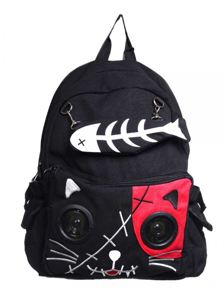 "Sac à dos Kawaii Rock Banned ""Sound Cat"""