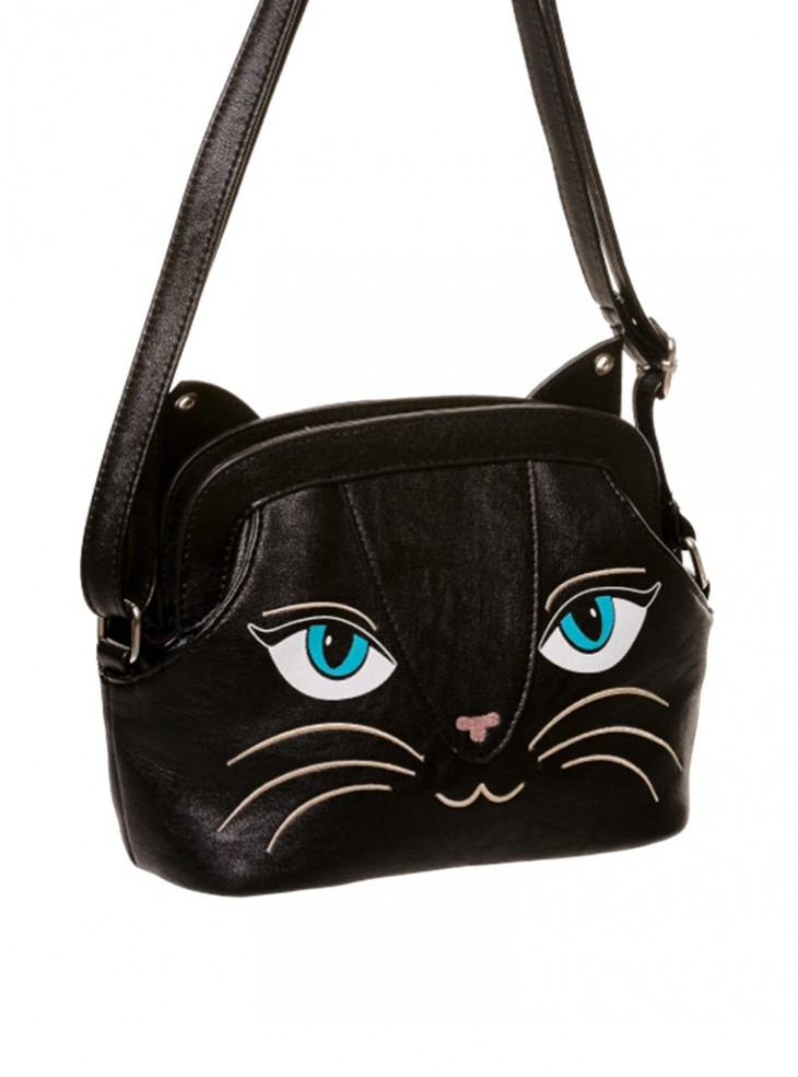 "Sac Pochette Kawaii Gothique Lolita Banned ""Small Black Cat"""