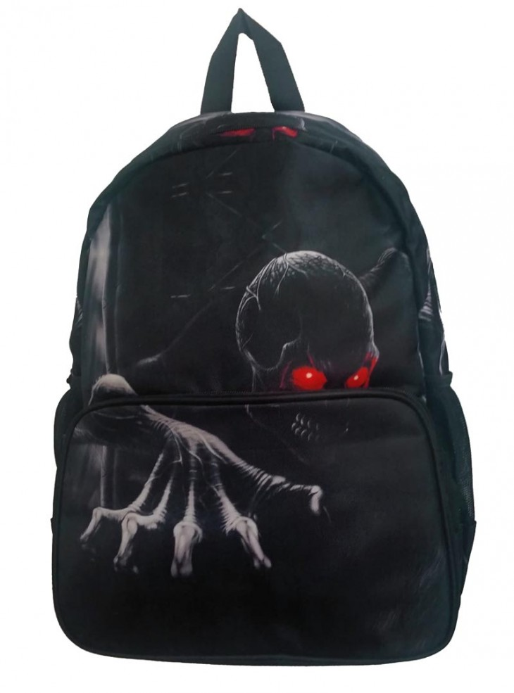 "Sac à dos Rock Gothique Banned ""Skull Red Eyes"""