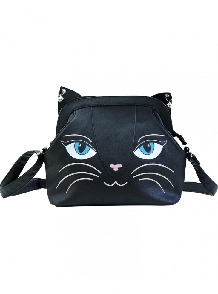 "Sac Kawaii Gothique Lolita Banned ""Medium Black Cat"""