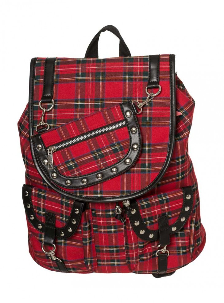 "Sac à Dos Punk Rock Banned ""Red Tartan"""
