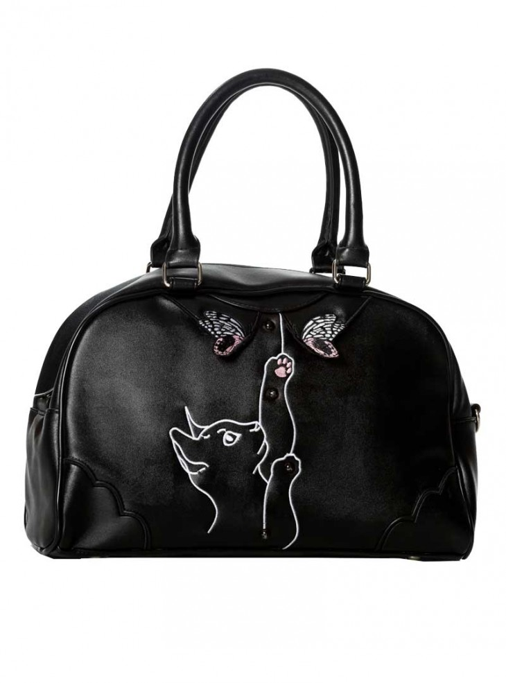 "Sac Rockabilly Retro Pin-Up Banned ""Meow"""