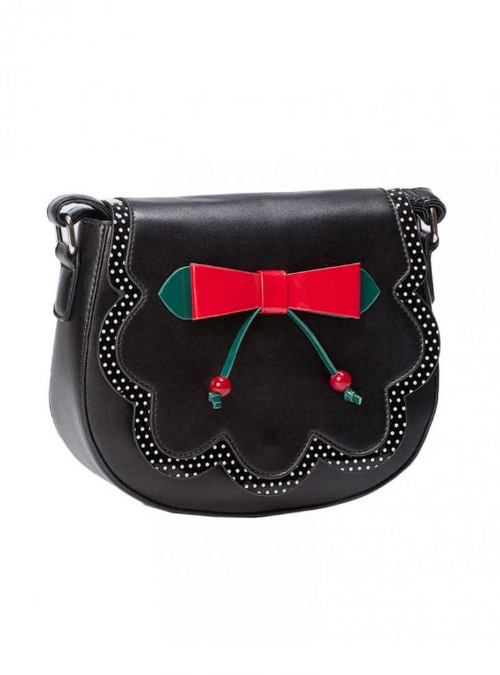 "Sac Années 50 Retro Pin-Up Rockabilly Banned ""Marilou Black"""