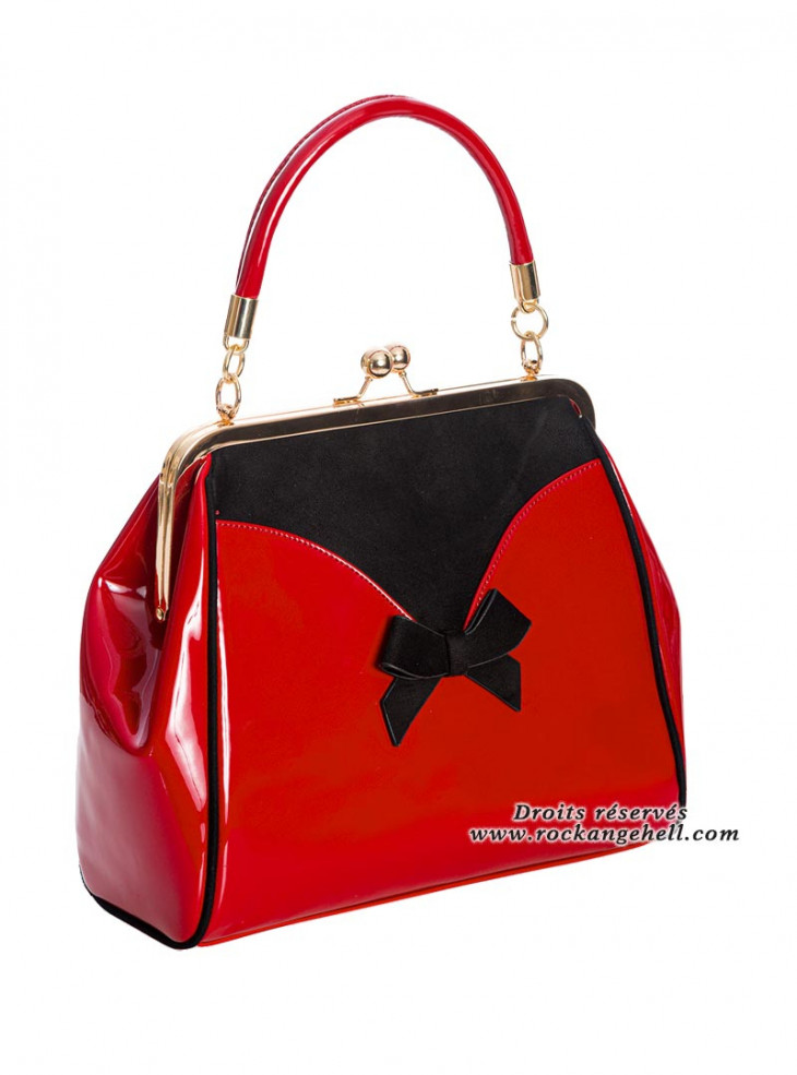 """Sac Rockabilly Pin-Up Années 50 Banned """"Marilyn Red"""""""