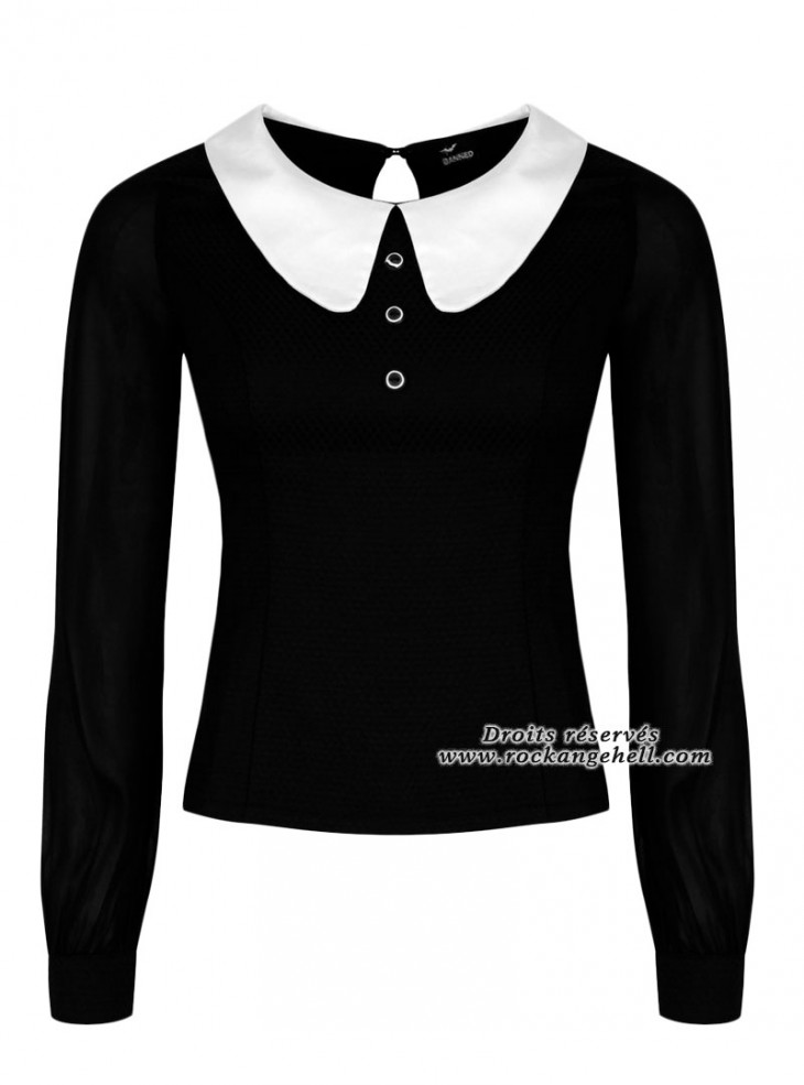 "Blouse Gothique Rockabilly Banned ""Till Dawn"""