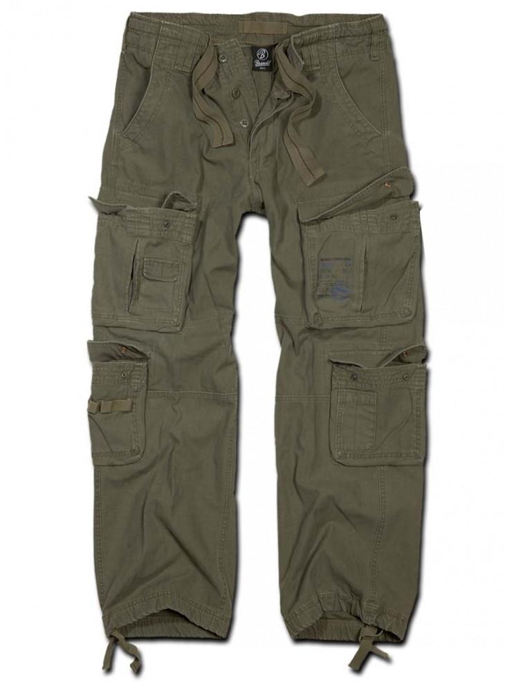 """Pantalon Treillis Militaire Homme rock punk Brandit """"Pure Vintage Olive"""""""