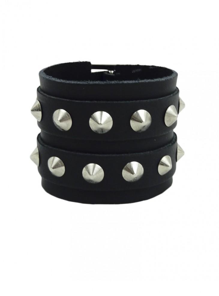 """Bracelet Cuir rock punk """"Conical"""""""