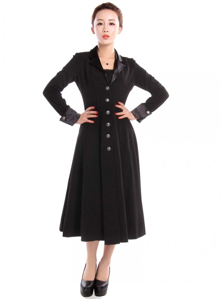 "Manteau Gothique Lolita Rockabilly Chicstar ""Black Amber"""