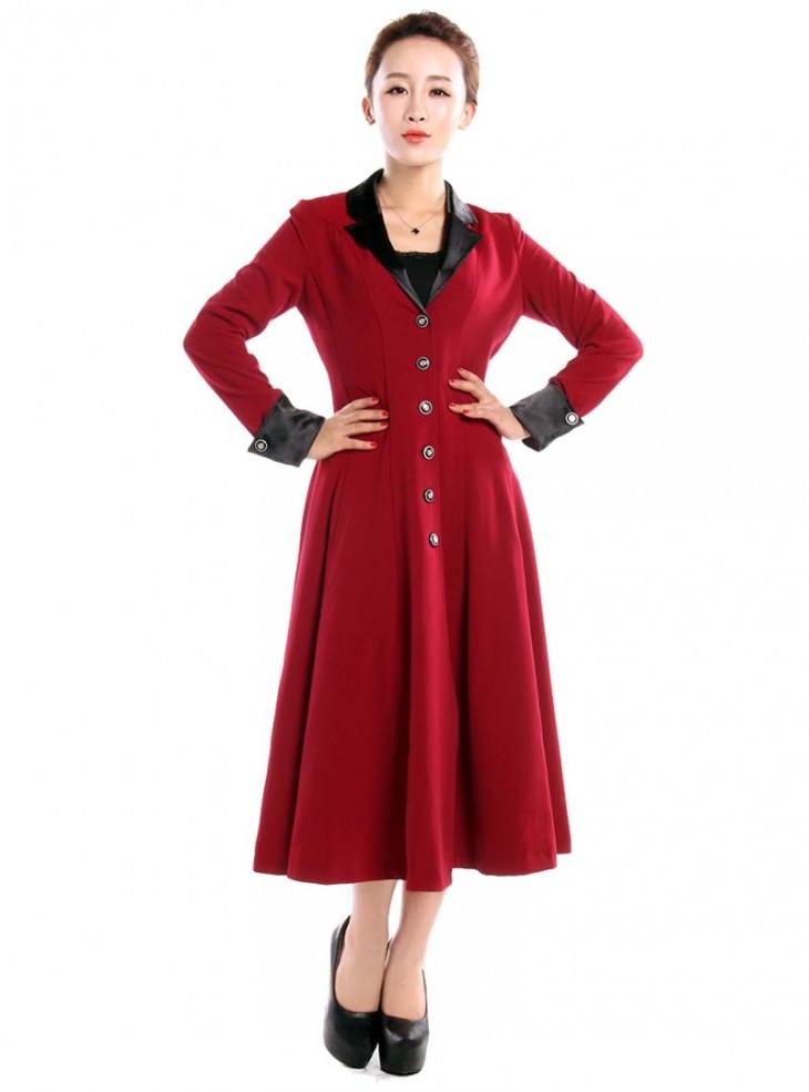 "Manteau Gothique Lolita Vintage Chicstar ""Red Amber"""