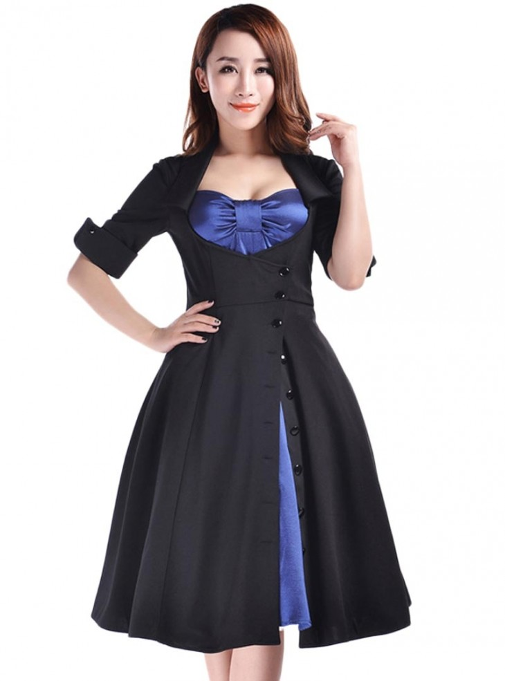 "Robe Rockabilly Lolita Gothique Chicstar ""Amy Blue"""