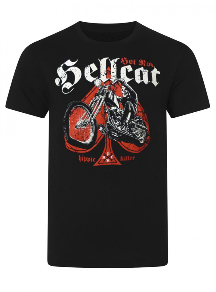 "Tee-shirt punk rock homme Hotrod Hellcat ""Hippie Killer"""