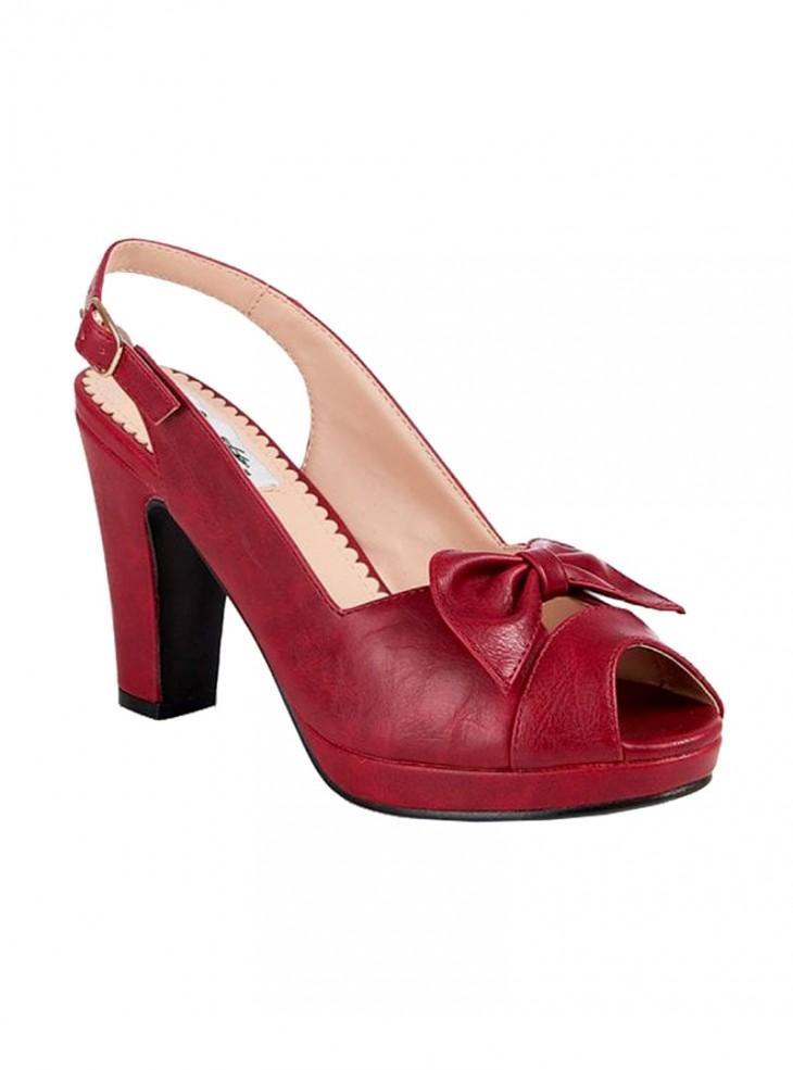 "Chaussures Escarpins Pin-Up Vintage Rockabilly Lulu Hun ""Susan Red"""