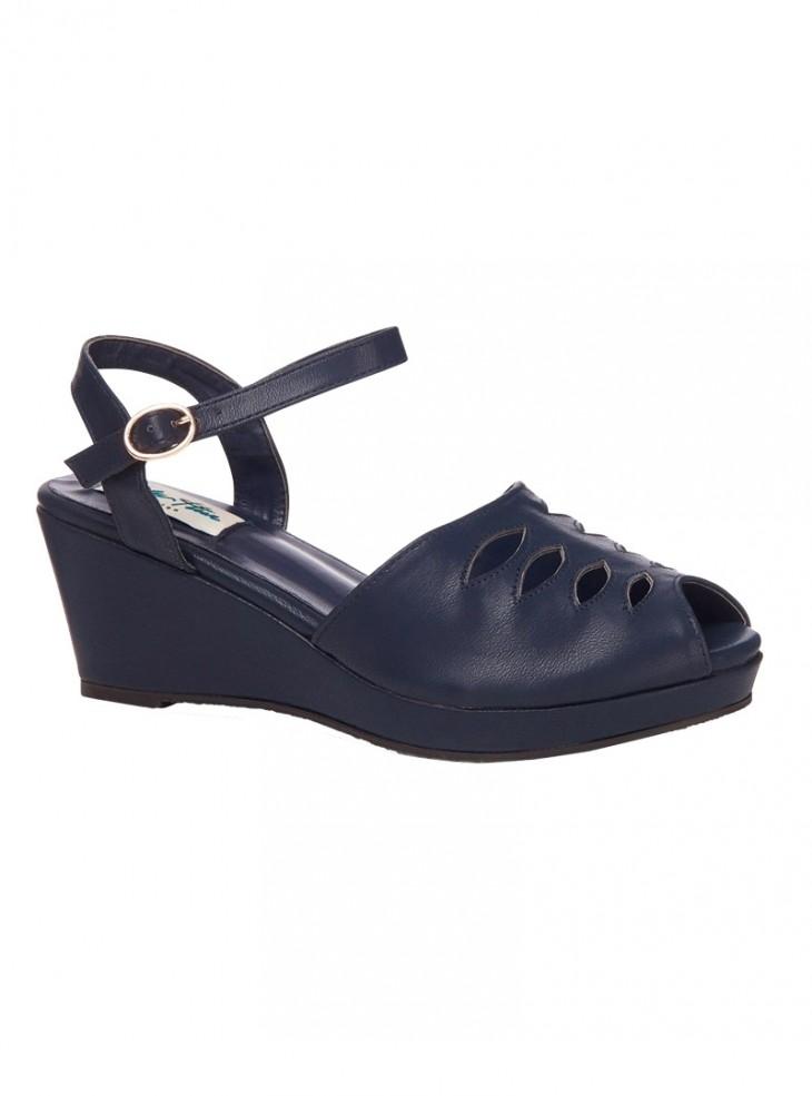 "Chaussures Wedge Vintage Retro Rockabilly Lulu Hun ""Lily"""
