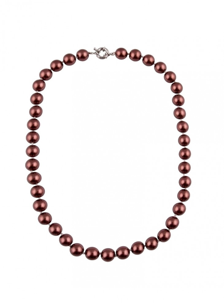 """Collier Perles Rockabilly Retro Pin-Up Années 50 Collectif """"Red Burgundy Pearls"""""""
