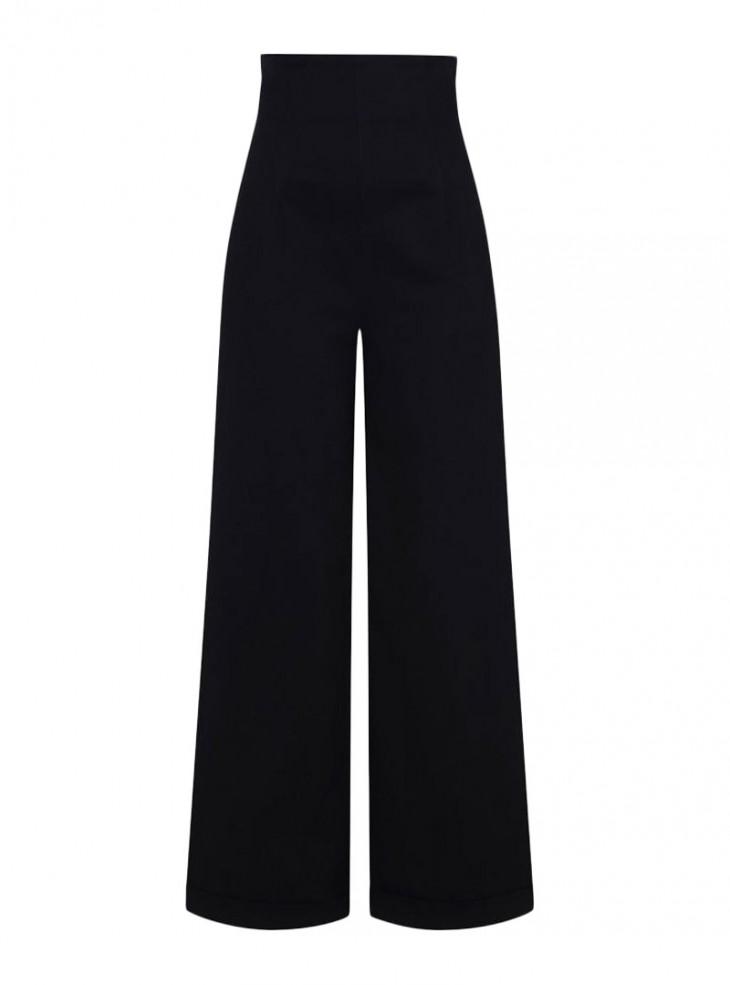 """Pantalon Jeans Rockabilly Vintage Retro Pin-Up Collectif """"Kiki Black Jeans"""""""