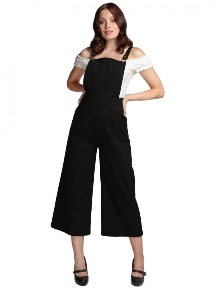 "Pantalon Salopette Retro Rockabilly Années 50 Collectif ""Tonya Dungarees"""