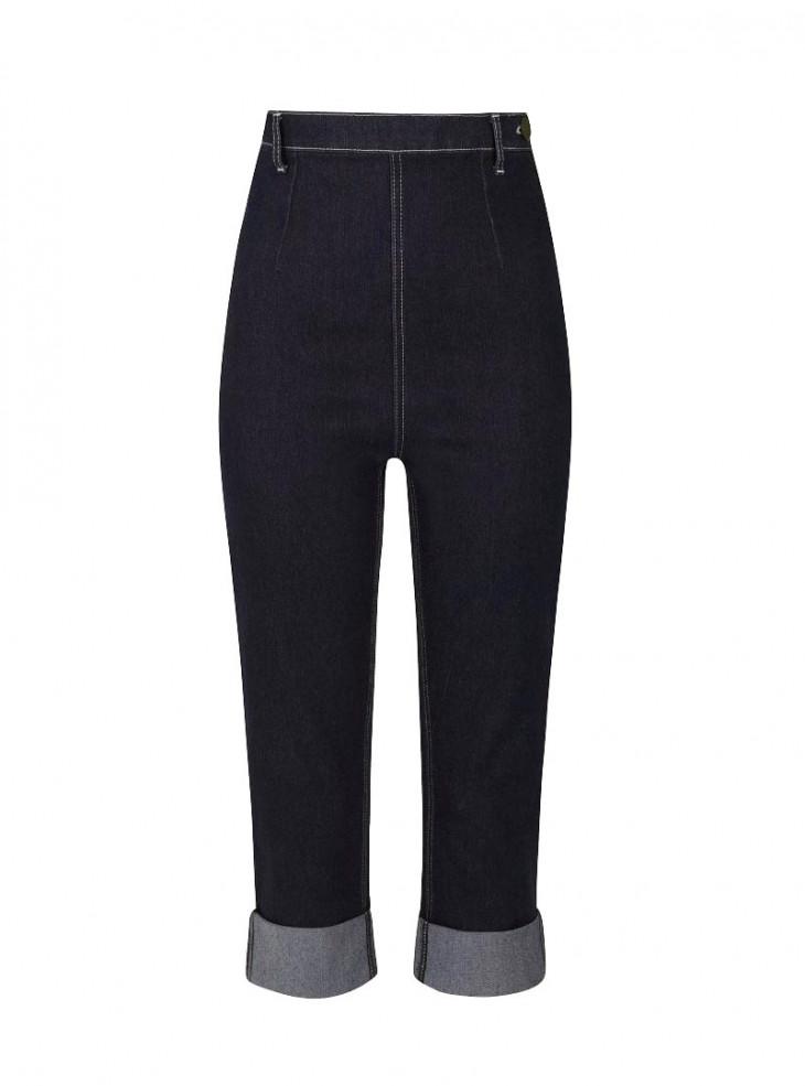 """Pantacourt Jeans Années 50 Retro Pin-Up Rockabilly Collectif """"Bambi"""""""