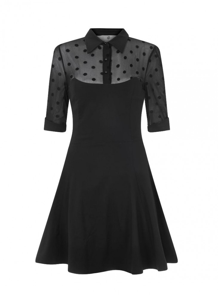 """Robe Rockabilly Pin-Up Années 50 Collectif """"Wednesday Skater"""""""