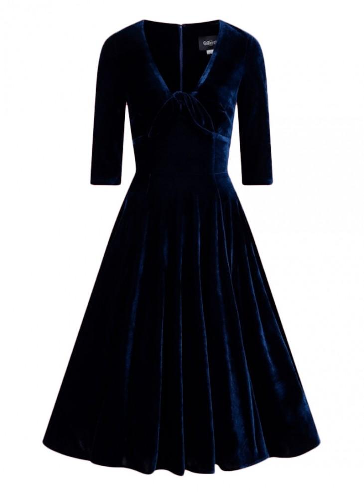 """Robe Soirée Vintage Rockabilly Pin-Up Collectif """"Moira Blue"""""""