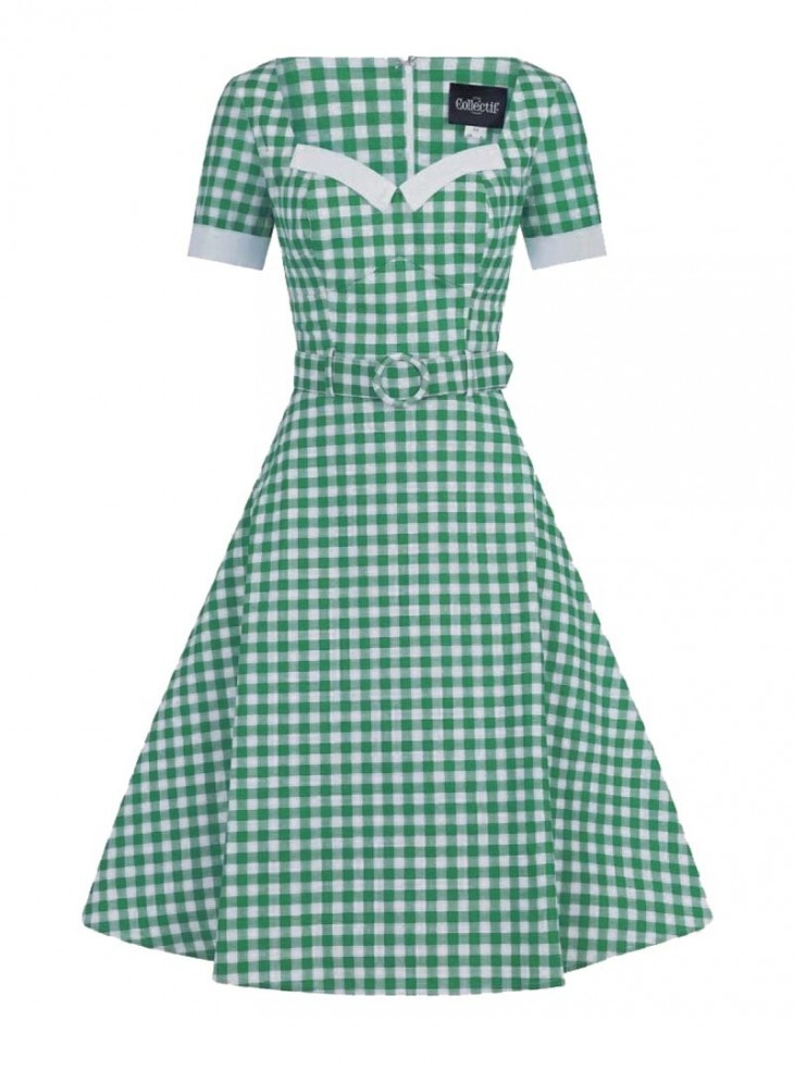 "Robe Retro Pin-Up Rockabilly Collectif ""Roberta Gingham"""
