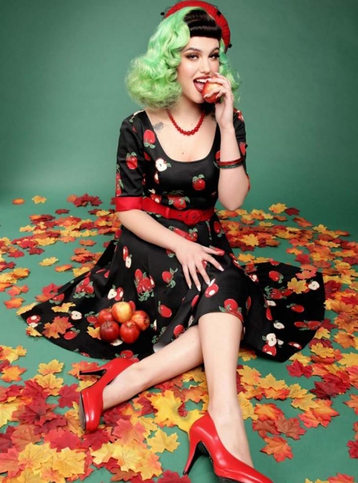 "Robe Pin-Up Retro Rockabilly Collectif ""Apple June"""