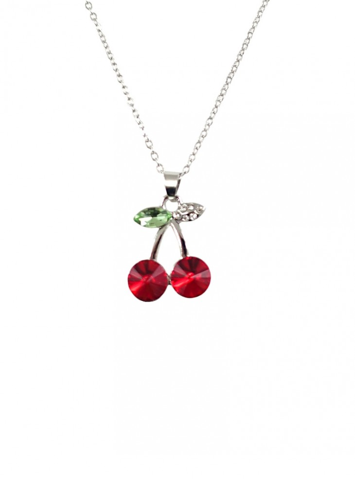 """Collier Rockabilly Pin-Up Vintage """"Cherry"""""""