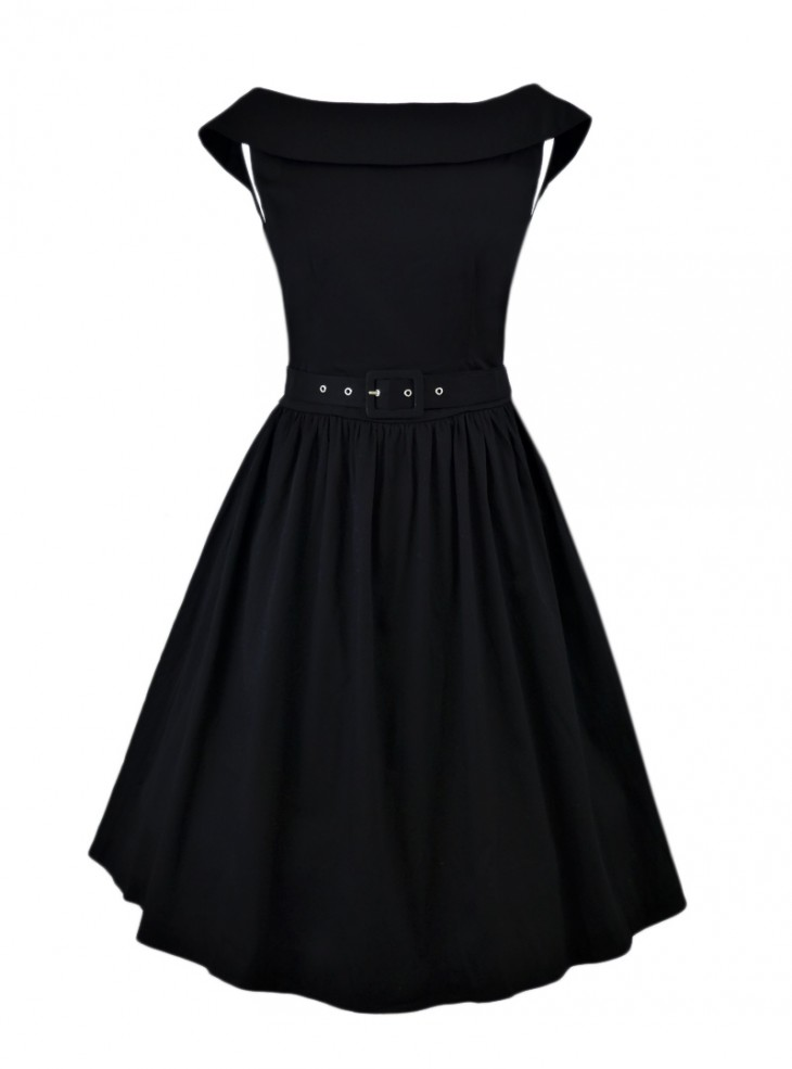 "Robe mi-longue Rockabilly Pin-Up Swing Dolly And Dotty ""Cindy Black"""