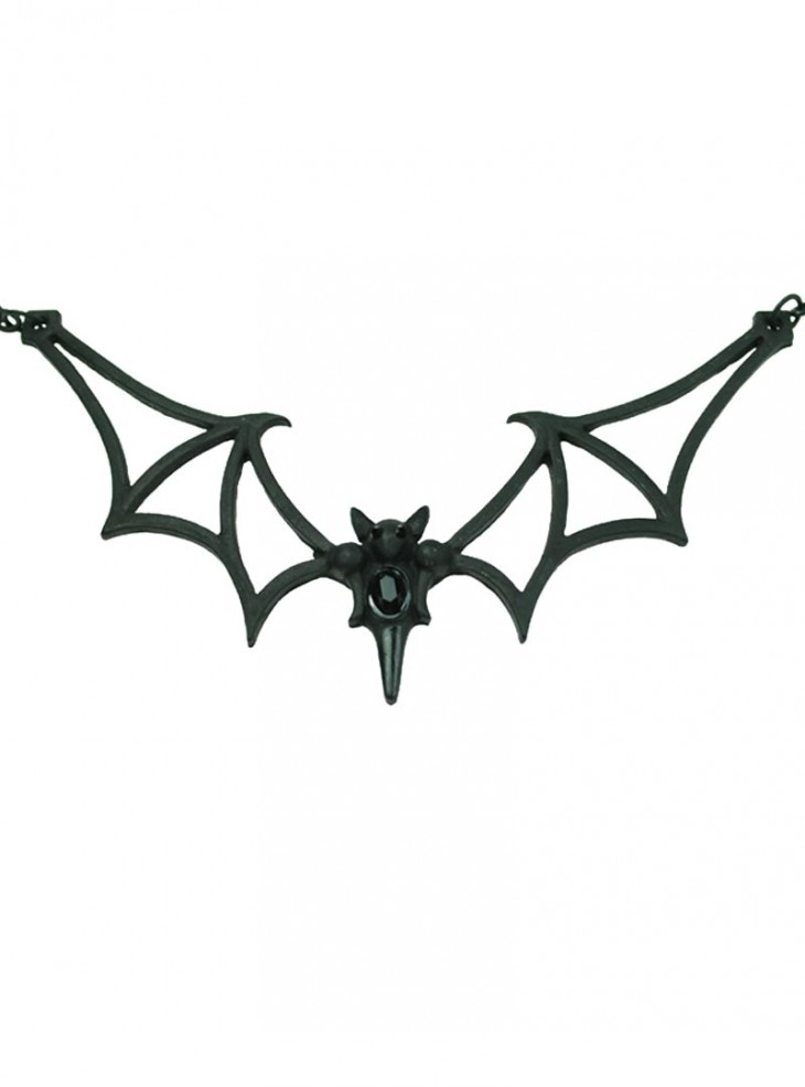 "Collier Gothique Poizen Industries (Evil Clothing) ""Black Bat"""