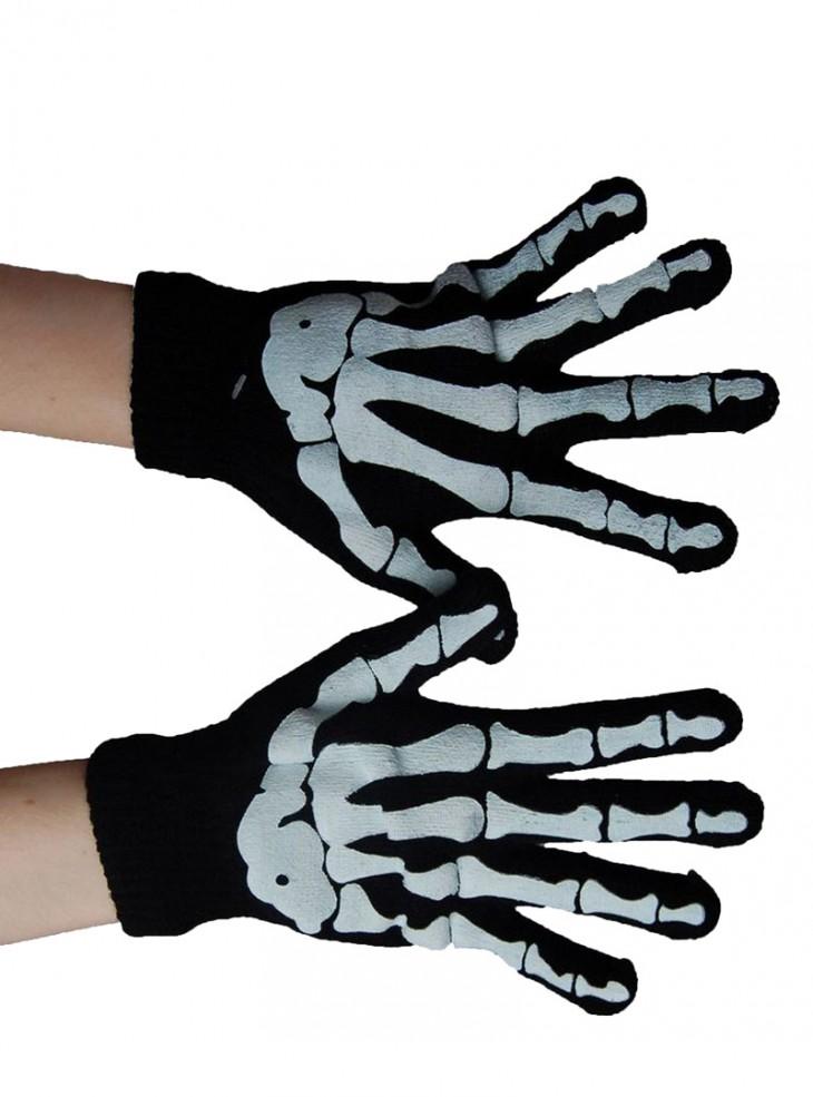 """Gants Rock Gothique Poizen Industries """"Bones"""""""