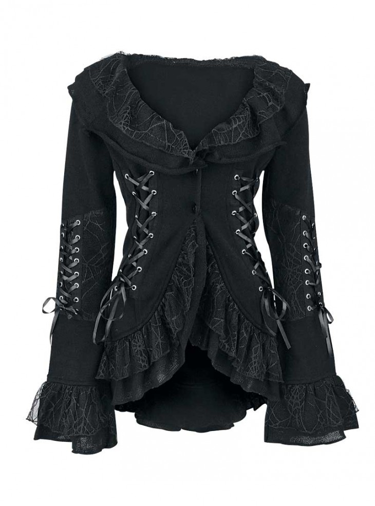 "Veste Gilet Gothique Lolita Poizen Industries (Evil Clothing) ""Cord Lace"""