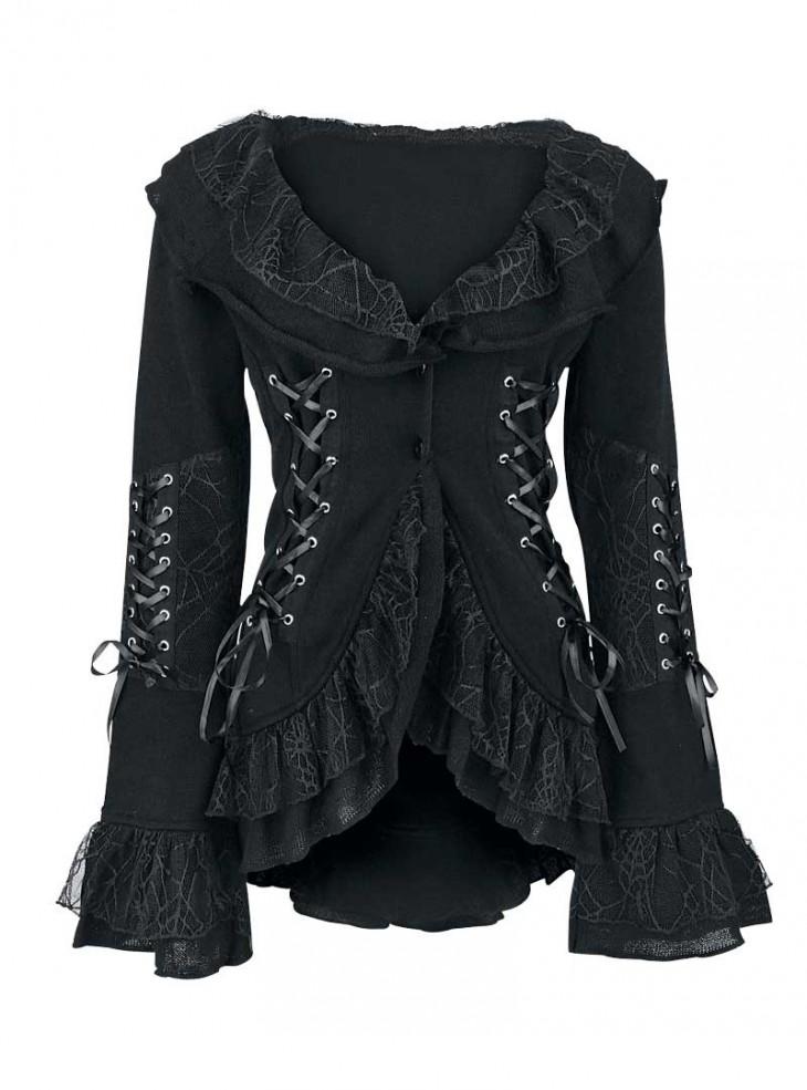 """Veste Gilet Gothique Lolita Poizen Industries (Evil Clothing) """"Cord Lace"""""""