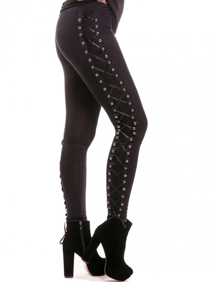 "Legging Rock Gothique Punk Vixxsin (Evil Clothing) ""Corset"""